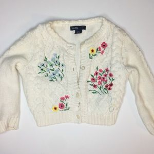 💖SALE 💖 3/$12 - Knit Sweater Floral Embroidery